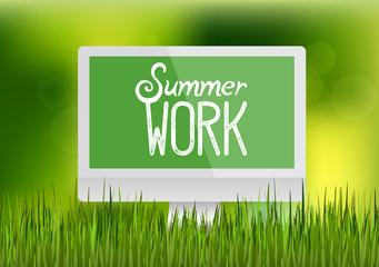 Computer monitor workplace summer work