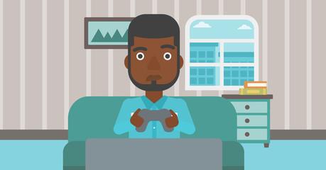 Addicted video gamer.