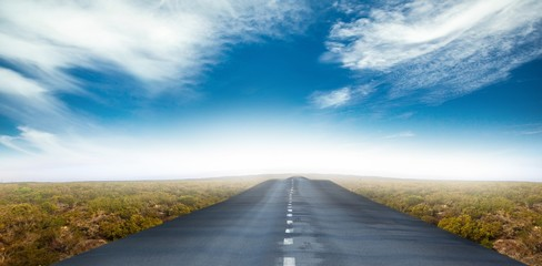 Composite image of a road