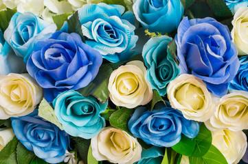 Roses flower backdrop decor in wedding ceremony