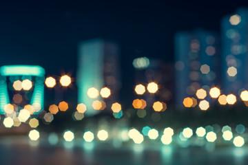 Glitter vintage lights background. gold, silver, blue and black( De-focused.)