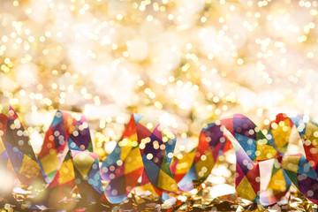 Grußkarte Silvester Karneval Feier Party