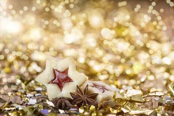 Weihnachtskarte festlich Kekse