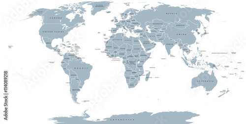 World Political Map Detailed Map Of The World With Shorelines - World map political with country names