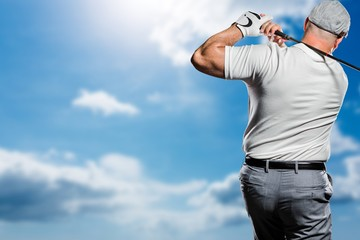 Portrait of golf player