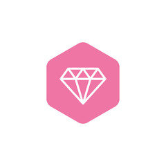 Hexagon Diamond Symbol. Creative design