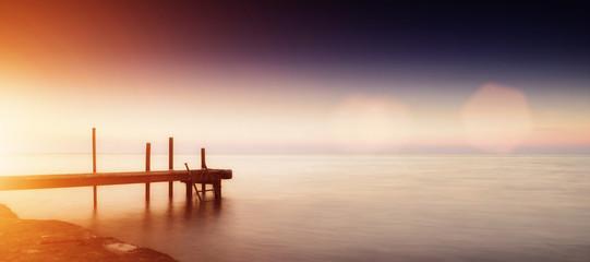 Poster Mer coucher du soleil Sea sunset in Odessa, Ukraine