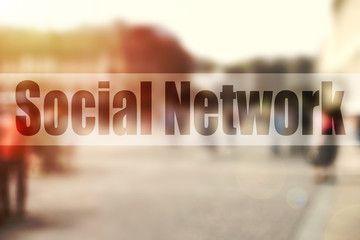 Social network concept. Abstract background