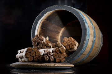 Cigars with the aroma of cognac barrels