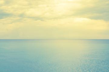 Retro style photo of a calm sea