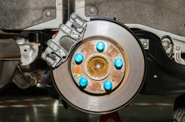 Brake disc on car