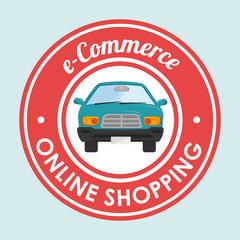 online car sale design, vector illustration eps10 graphic