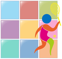 Sport icon design for tennis