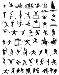 Icon design for many type of sports