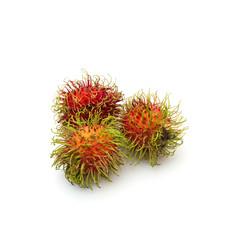 Rambutan fruit from Thailand on white background