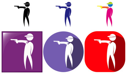 Sport icon for shooting gun