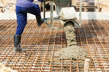 Using concrete bucket