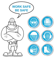 Cyan Health and Safety icons and builder