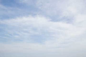 abstract blur photo of blue sky and white cloud