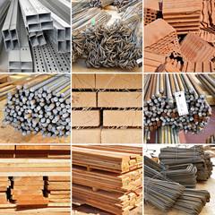 Baumaterial, Holz, Eisen