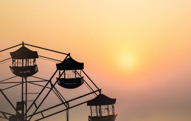 silhouette of ferris wheel