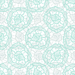 Lace floral pattern. Vector fashion fabric textile swatch. Illustration for wrapping paper, packaging design and decoration