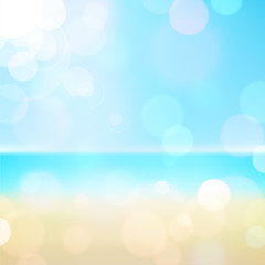 Summer holiday tropical beach background