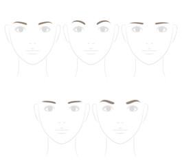 眉毛の形 ソフトなイメージ