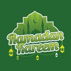 Ramadan kareem logo festival with green color style. great for card, poster and banner.