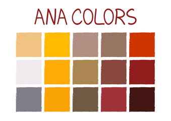 ANA. Army Navy Air Force Marines Color Tone without Name Vector Illustration No.3
