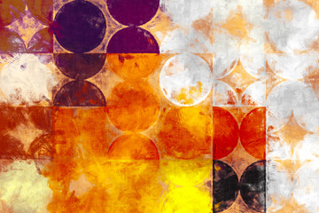 bright circle painting impressionism, watercolor and oil painting geometry image, shapes design amazing color choise,