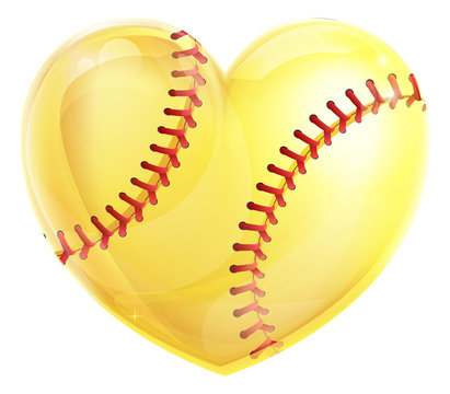 Heart Shaped Softball