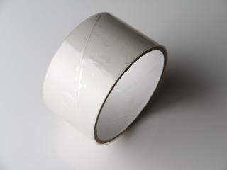 Scotch tape on a gray background