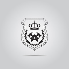Firefighter Badge vector icon