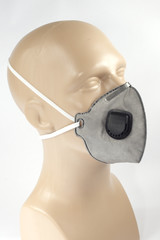Grey Protective Dust mask with valve