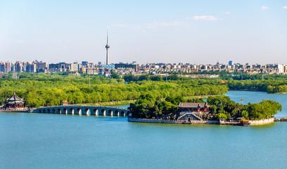 Foto op Plexiglas Beijing Kunming Lake seen from the Summer Palace - Beijing