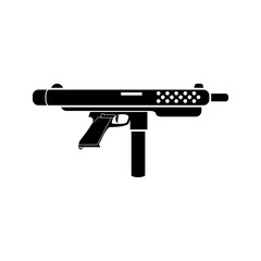 Weapon black simple icon. Vector. Flat style for web and mobile.