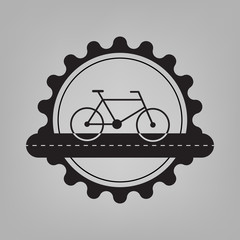 Bicycle team vector badge with empty copy space.