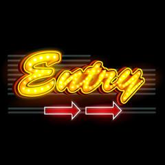 Neon Light signboard for Entry banner