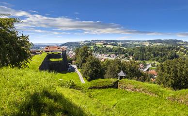 Panorama Stadt Kronach von der Festung Rosenberg