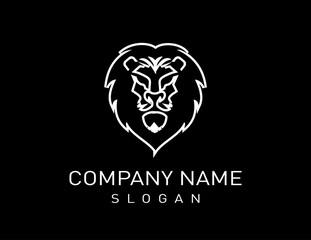 Lion logo 3 Black Background
