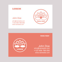 Lotus Logo,Vector Logo Template.Business card.