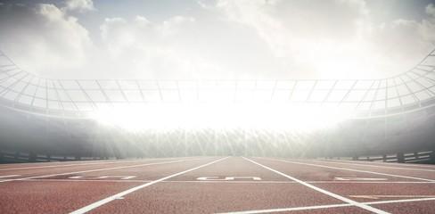 Foto auf Acrylglas Stadion View of a stadium with tribune