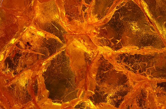 amber close up in detail - macro texture