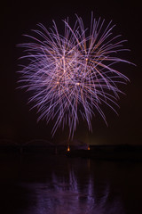 Fireworks on a river