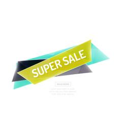 Vector geometric shape ad promo banner