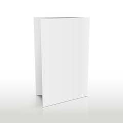 Blank folder white brochure. Vector 3D mockup. Realistic paper brochure and empty paper mockup of illustration