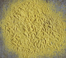 Textured yellow grain