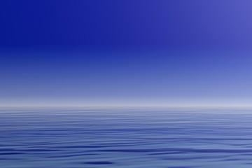 Blue sky and sea. 3d illustration
