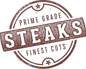 Prime Grade Steaks Restaurant Stamp